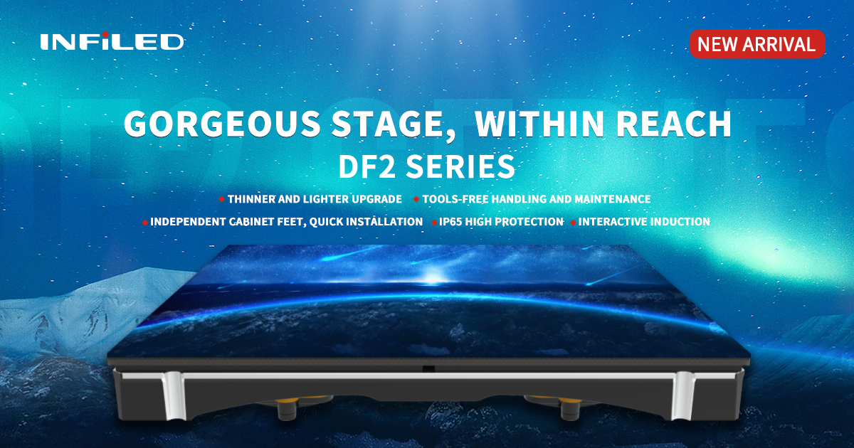 INFiLED DF2 series floor display: a new generation